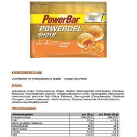 PowerBar PowerGel Shots Box Orange 16 x 60g